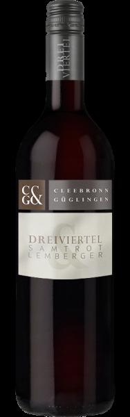Dreiviertel Cleebronner Samtrot mit Lemberger Edition
